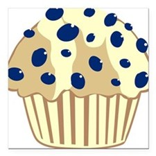 Blueberry Muffin Square Car Magnet