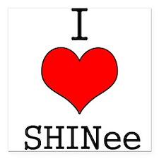 """I Heart SHINee"" Square Car Magnet"