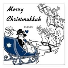 Merry Christmukkah Square Car Magnet