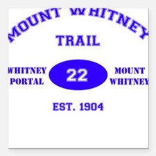 Mount Whitney Trail Square Car Magnet