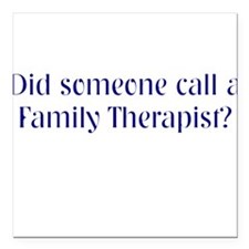 Family Therapist Square Car Magnet