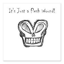 Flesh Wound Square Car Magnet