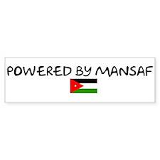 Powered by Mansaf Bumper Bumper Sticker