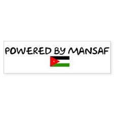 Powered by Mansaf Bumper Bumper Stickers