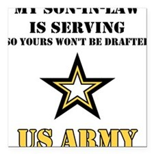 Army - Son-in-law Serving Square Car Magnet