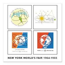 Classic NY World's Fair Square Car Magnet