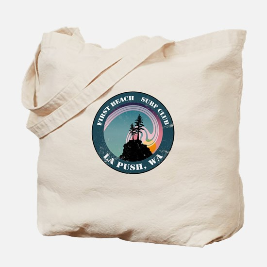 First Beach Surf Club Tote Bag