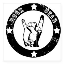 Rock Star Metal Square Car Magnet