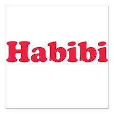 Habibi Square Car Magnet