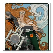 Biker Chic 1 Square Car Magnet