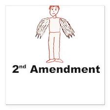 2nd Amendment Square Car Magnet