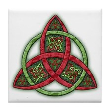 Celtic Holiday Knot Tile Coaster