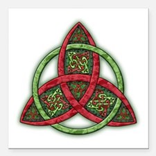 "Celtic Holiday Knot Square Car Magnet 3"" x 3"""