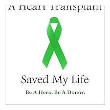 Heart Transplant Survivor Square Car Magnet