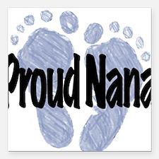 Proud Nana (Boy) Square Car Magnet