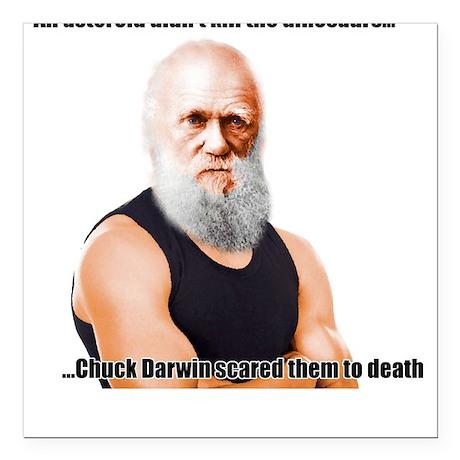 Chuck Darwin Square Car Magnet