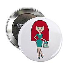 """Pretty Redhead 2.25"""" Button (10 pack)"""