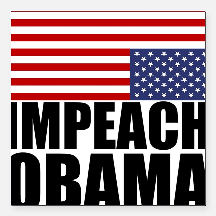 Impeach Obama Square Car Magnet