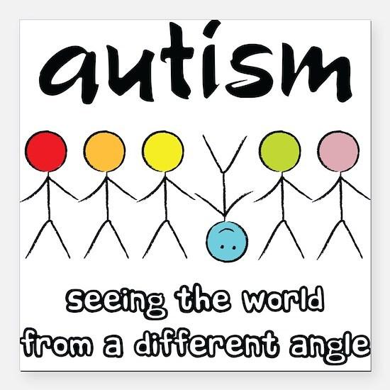 Autism Angle Square Car Magnet