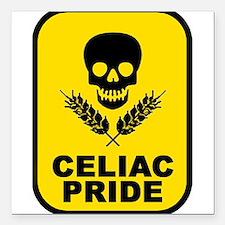 Celiac Skull Square Car Magnet