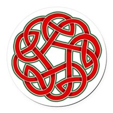 Celtic Christmas Knot Round Car Magnet