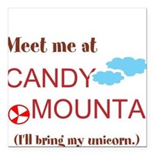 Candy Mountain Square Car Magnet