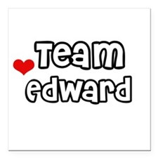 Team Edward Square Car Magnet