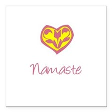 Namaste, Yoga Square Car Magnet