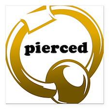 Pierced Square Car Magnet