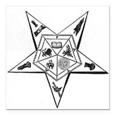 Order of the Eastern Star Square Car Magnet