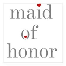 Maid of Honor Square Car Magnet
