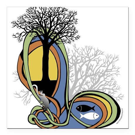 Elements of Nature Square Car Magnet