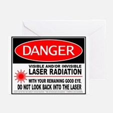 Laser Safety Greeting Cards (Pk of 10)