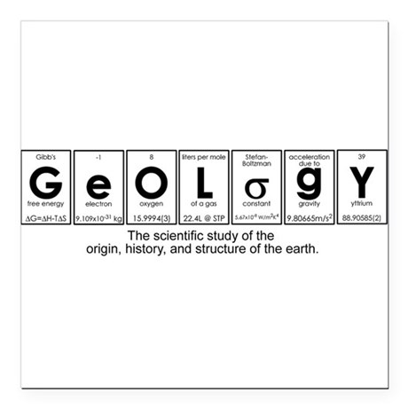 GEOLOGY Square Car Magnet