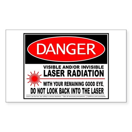 Laser Safety Sticker (Rectangle)
