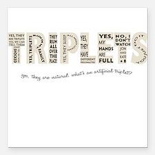 Triplets Questions Square Car Magnet
