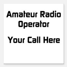 Personalized Call Sign Square Car Magnet