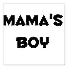 Mama's Boy Square Car Magnet