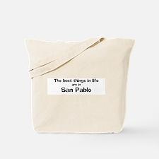 San Pablo: Best Things Tote Bag
