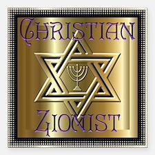 Christian Zionist 2 Square Car Magnet