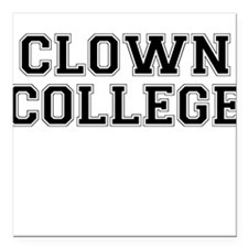 Clown College Square Car Magnet
