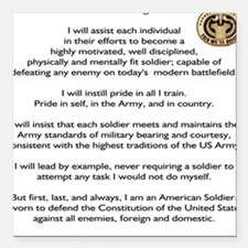 Drill Sergeants Creed / Patch Square Car Magnet