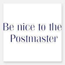 Postmaster Square Car Magnet