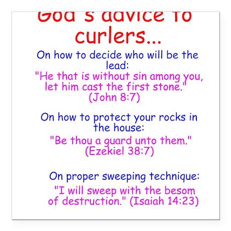 """God's Advice..."" Square Car Magnet"