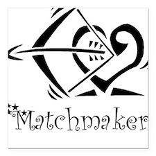 Matchmaker Square Car Magnet