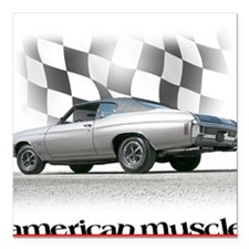 Chevelle SS Muscle Square Car Magnet