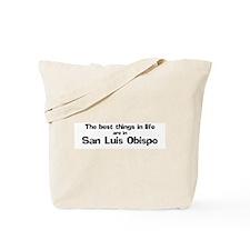San Luis Obispo: Best Things Tote Bag