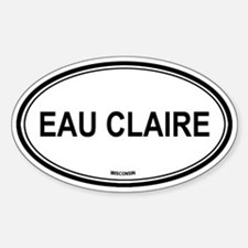 Eau Claire (Wisconsin) Oval Decal