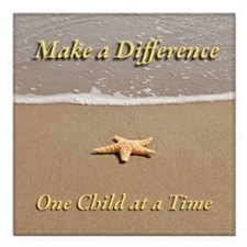 Make a Difference Square Car Magnet