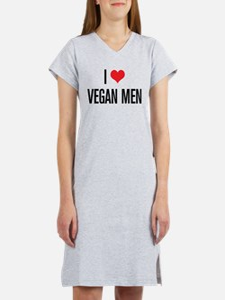 I Love Vegan Men Women's Nightshirt